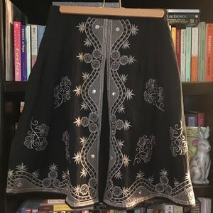 Adorable Skirt with Embroidery